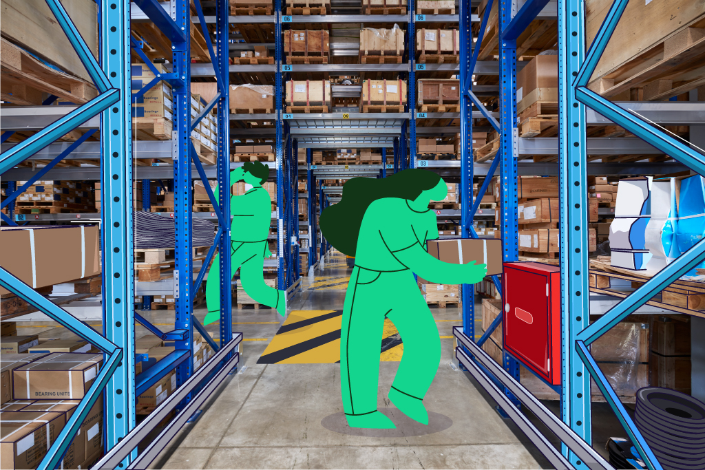 Outsourced accounting team running an inventory warehouse
